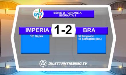 Serie D, Imperia-Bra 1-2: highlights della partita + interviste