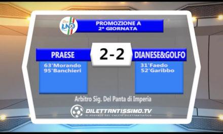 VIDEO – PRAESE-GOLFO DIANESE 2-2: le immagini del match e le interviste post partita