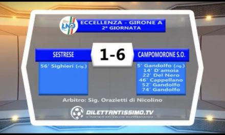 VIDEO – SESTRESE-CAMPOMORONE 1-6: le immagini del match e le interviste post partita