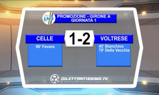 VIDEO: CELLE RIVIERA- VOLTRESE 1-2