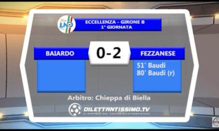 VIDEO – Baiardo – Fezzanese 0-2: le immagini del match