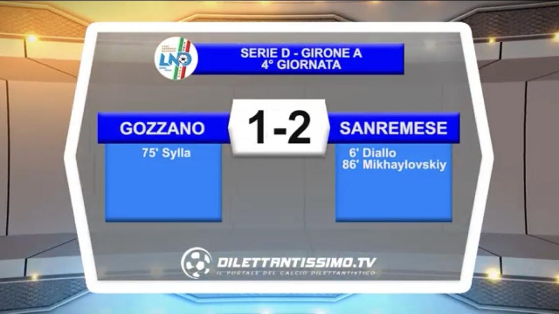 VIDEO – GOZZANO-SANREMESE 1-2: le immagini del match