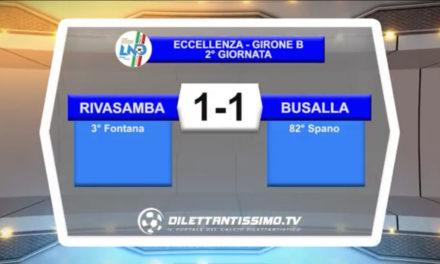 VIDEO – RIVASAMBA-BUSALLA 1-1: le immagini della partita
