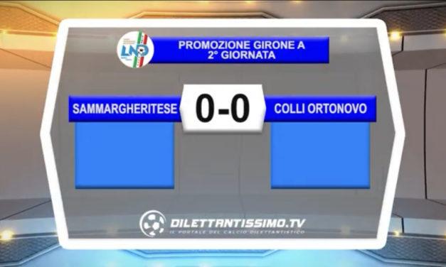 VIDEO – SAMMARGHERITESE-COLLI ORTONOVO 0-0: le immagini del match