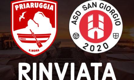 Covid, rinviata Priaruggia G.Mora – San Giorgio