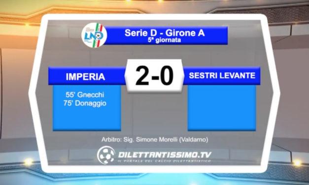 VIDEO – IMPERIA – SESTRI LEVANTE 2-0: le immagini del match e le interviste