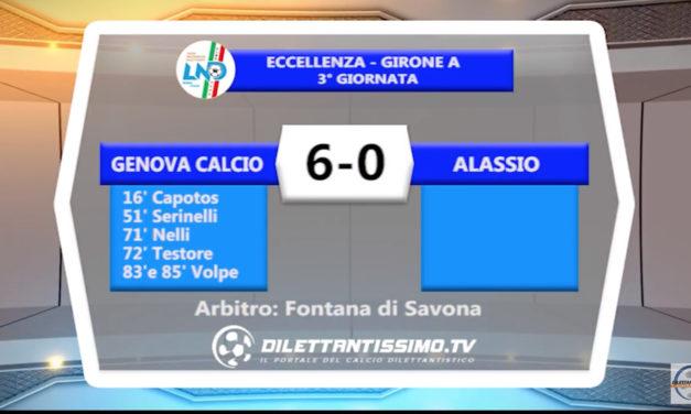 VIDEO – GENOVA CALCIO – ALASSIO 6-0: le immagini del match e le interviste