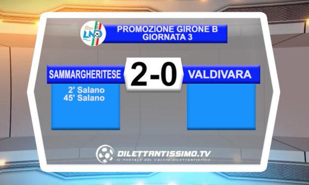 VIDEO – SAMMARGHERITESE – VALDIVARA 2-0: le immagini del match