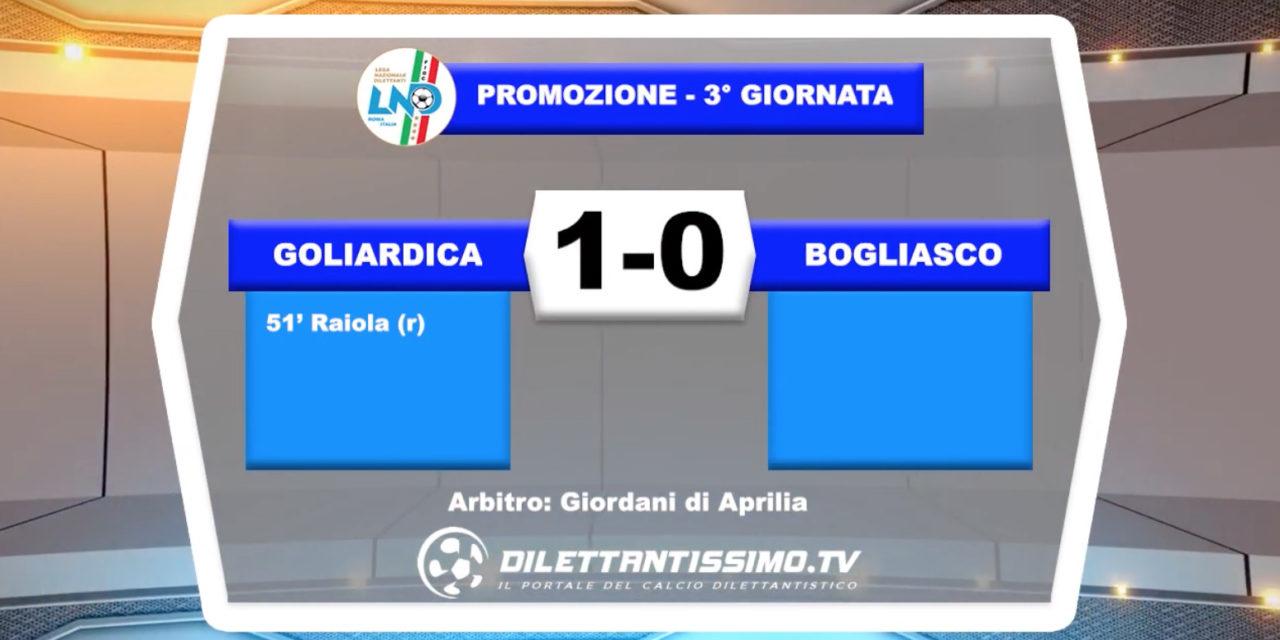 VIDEO – GOLIARDICA – BOGLIASCO 1-0 – Le immagini del match e le interviste