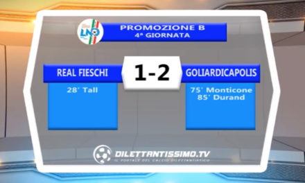 VIDEO – Real Fieschi-Goliardicapolis 1-2: le immagini del match e le interviste