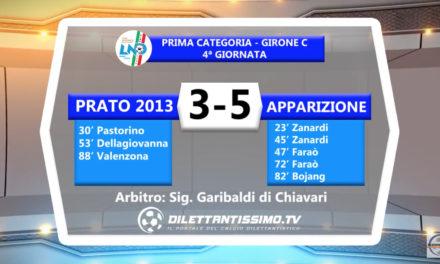 VIDEO – Prato-Apparizione 3-5: le immagini del match
