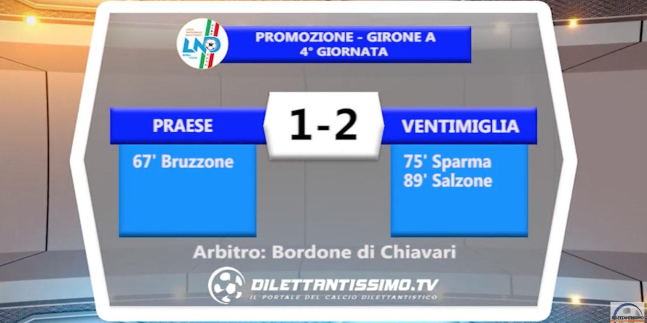 VIDEO – Praese-Ventimiglia 1-2: le immagini del match e le interviste
