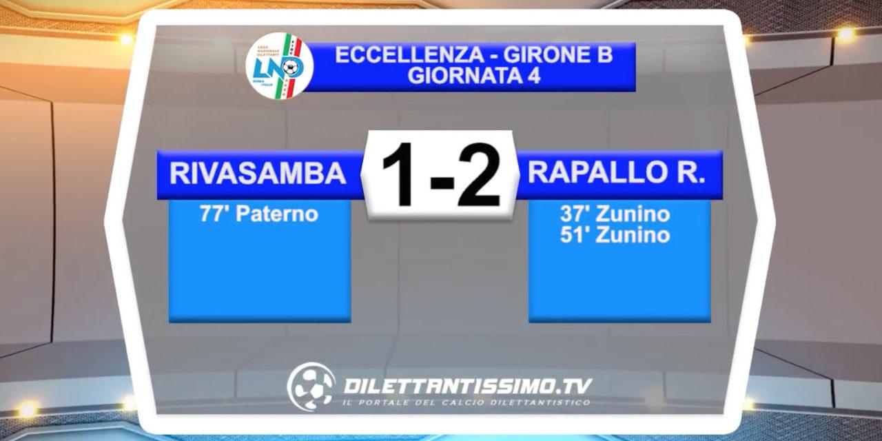 VIDEO – Rivasamba-Rapallo Rivarolese 1-2: le immagini del match