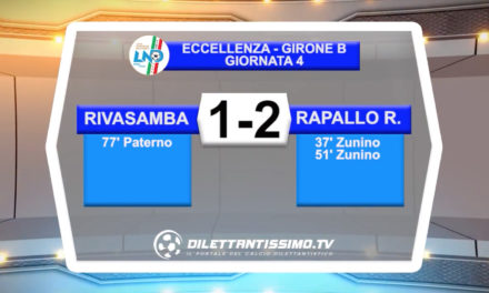 VIDEO – Rivasamba-Rapallo Rivarolese 1-2: le immagini del match