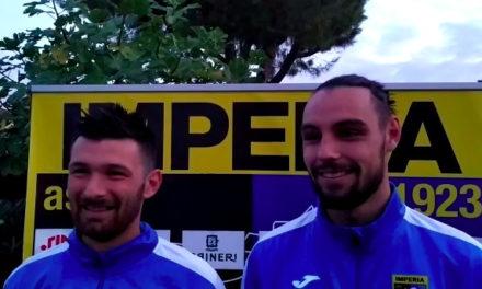 Imperia, Sancinito e Donaggio le parole degli autori dei gol contro il Varese