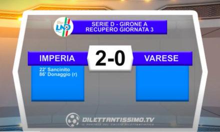 VIDEO  Imperia-Varese 2-0: le immagini del match e le interviste