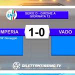 IMPERIA-VADO 1-0   LE IMMAGINI DEL MATCH E LE INTERVISTE
