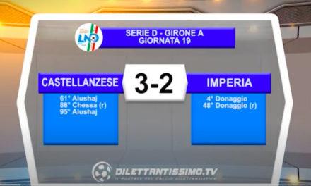 VIDEO|CASTELLANZESE-IMPERIA 3-2: LE IMMAGINI DEL MATCH