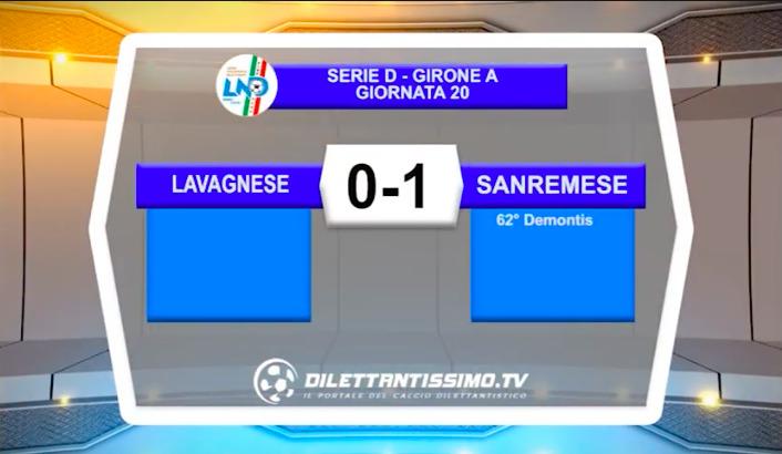VIDEO LAVAGNESE-SANREMESE 0-1: LE IMMAGINI DEL MATCH