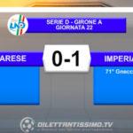VIDEO VARESE-IMPERIA 0-1: LE IMMAGINI DEL MATCH