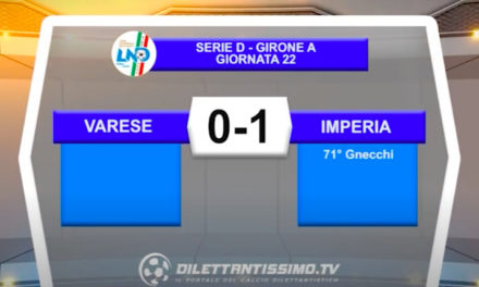 VIDEO|VARESE-IMPERIA 0-1: LE IMMAGINI DEL MATCH