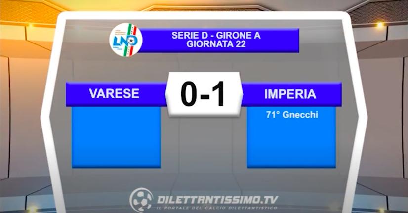 VIDEO|VARESE-IMPERIA 0-1: LE IMMAGINI DEL MATCH