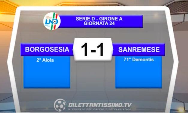 BORGOSESIA-SANREMESE 1-1: LE IMMAGINI DEL MATCH