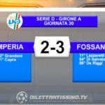 VIDEO|IMPERIA-FOSSANO 2-3: LE IMMAGINI DEL MATCH