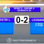 VIDEO|SESTRI LEVANTE-LEGNANO 0-2: LE IMMAGINI DEL MATCH