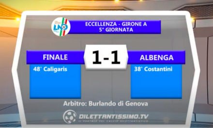 VIDEO| FINALE-ALBENGA 1-1: LE IMMAGINI DEL MATCH E LE INTERVISTE