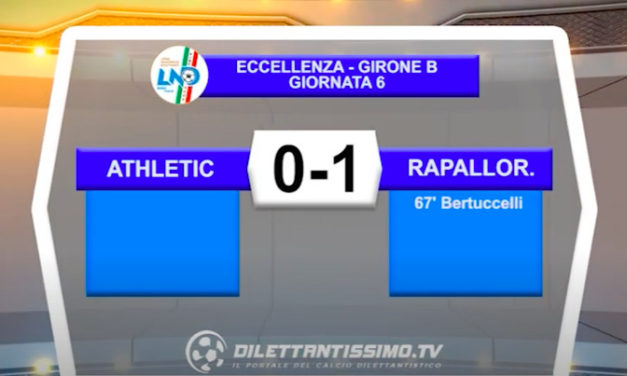 VIDEO| ATHLETIC CLUB-RAPALLO RIVAROLESE 0-1: LE IMMAGINI DEL MATCH E LE INTERVISTE