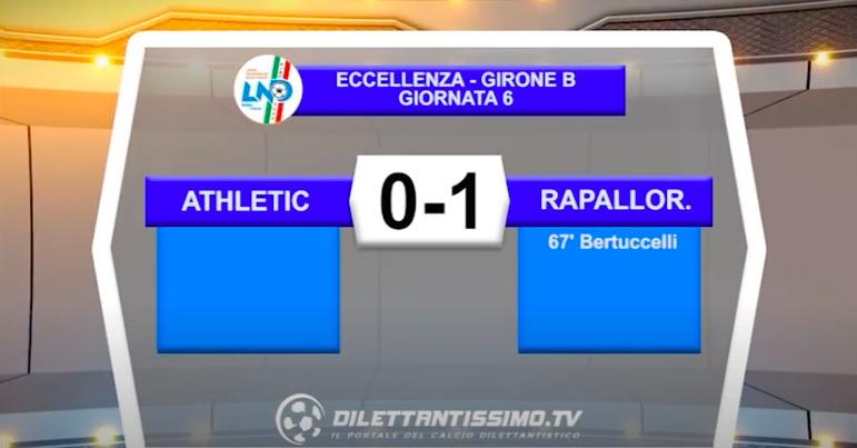 VIDEO| ATHLETIC CLUB-RAPALLO RIVAROLESE 0-1: LE IMMAGINI DEL MATCH E LE INTERVISTE