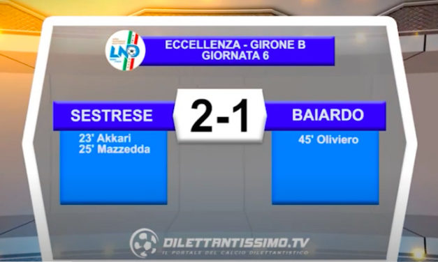VIDEO| SESTRESE-BAIARDO 2-1: LE IMMAGINI DEL MATCH E LE INTERVISTE