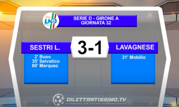 VIDEO| SESTRI LEVANTE-LAVAGNESE 3-1: LE IMMAGINI DEL MATCH E LE INTERVISTE