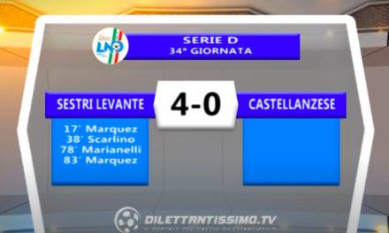 VIDEO| SESTRI LEVANTE-CASTELLANZESE 4-0: LE IMMAGINI DEL MATCH