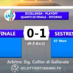 VIDEO| FINALE-SESTRESE 0-1 (4-2 dcr): le immagini del match e le interviste