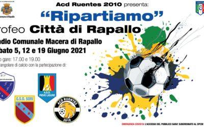 """""""Ripartiamo"""": torniamo in campo Ruentes 2010, Sori, Pieve e Cogornese"""