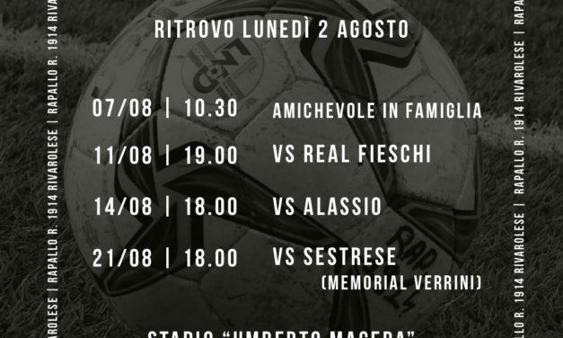 Rapallo Rivarolese: le date delle prime amichevoli