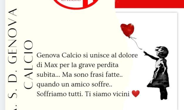 Genova Calcio: è venuta a mancare all'affetto dei suoi cari la mamma di Max Bruzzone
