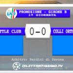 LITTLE CLUB JAMES-COLLI ORTONOVO 0-0: GLI HIGHLIGHTS DELLA PARTITA E LE INTERVISTE