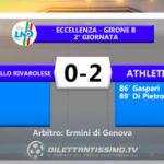 Rapallo Rivarolese-Athletic Club 0-2: gli highlights della partita e le interviste