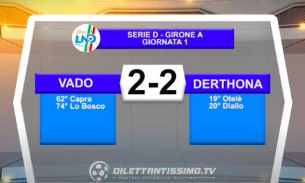 Vado-Derthona 2-2: gli highlights della partita