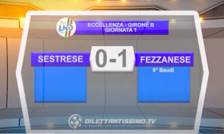 Sestrese-Fezzanese 0-1: gli highlights della partita e le interviste