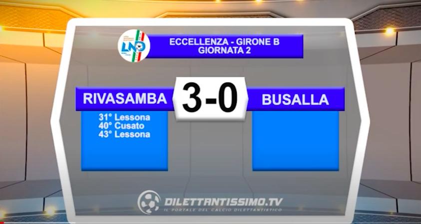 Rivasamba-Busalla 3-0: gli ghighlights della partita
