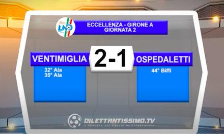 Ventimiglia-Ospedaletti 2-1: gli highlights della partita