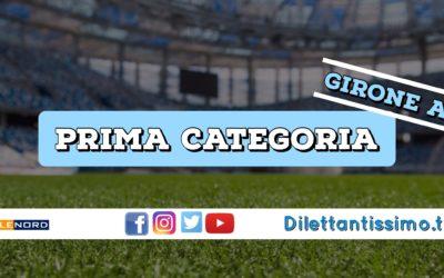DIRETTA LIVE – PRIMA CATEGORIA A, 1ª GIORNATA: RISULTATI E CLASSIFICA