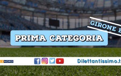 DIRETTA LIVE – PRIMA CATEGORIA B, 3ª GIORNATA: RISULTATI E CLASSIFICA