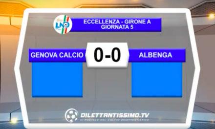 Genova Calcio-ALBENGA 0-0: GLI HIGHLIGHTS DELLA PARTITA