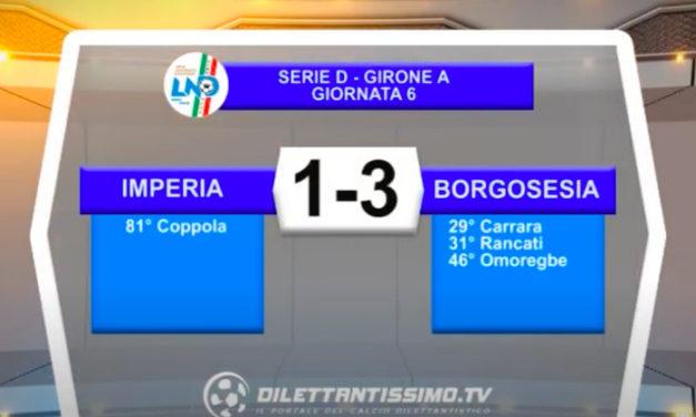 IMPERIA-BORGOSESIA 1-3: GLI HIGHLIGHTS DELLA PARTITA